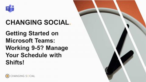 Manage Teams Schedule