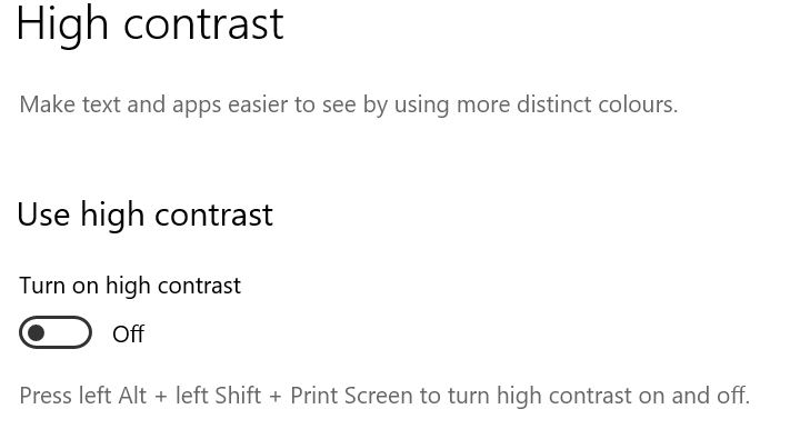 High contrast toggle button image