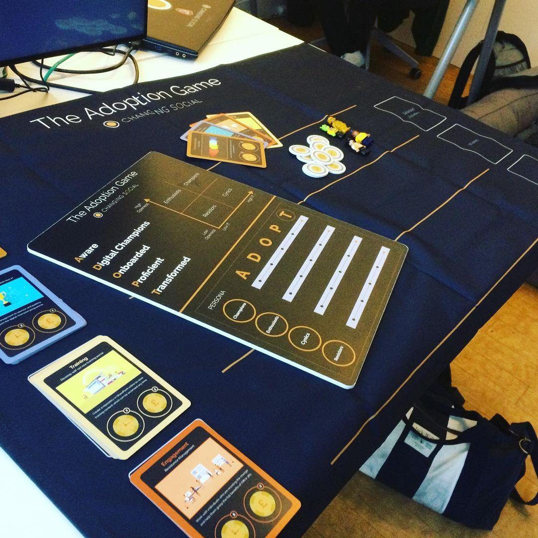 The adoption game board