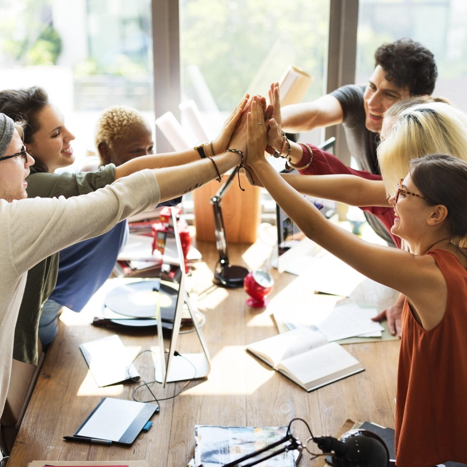 Teamwork Power Successful Meeting Workplace