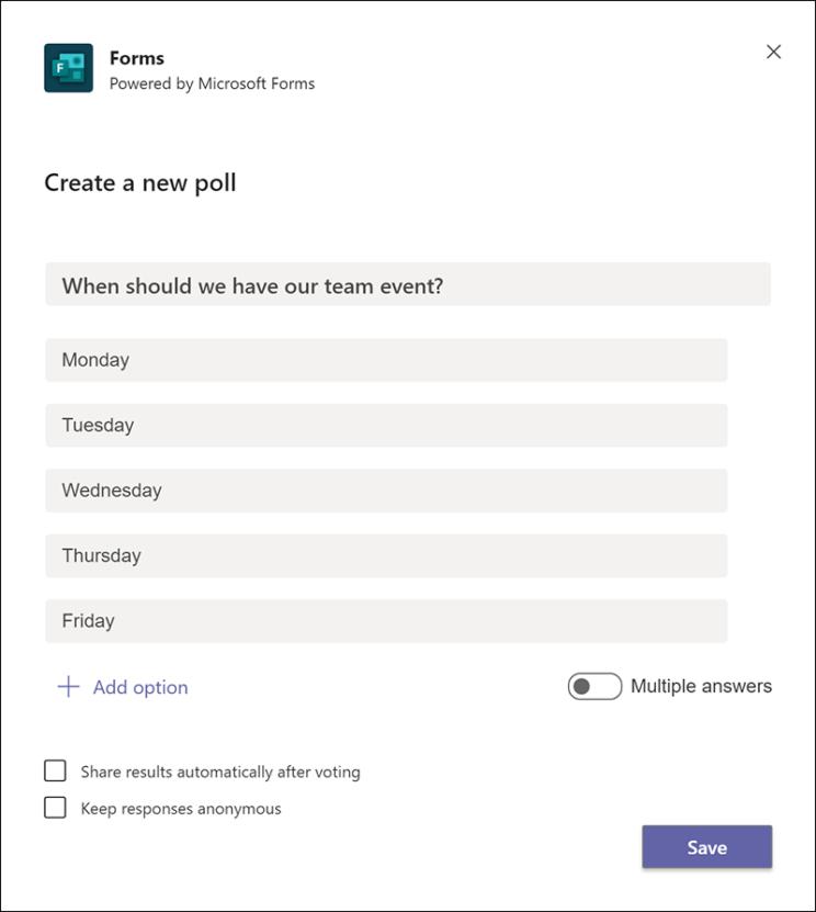 microsoft teams best practices: polls