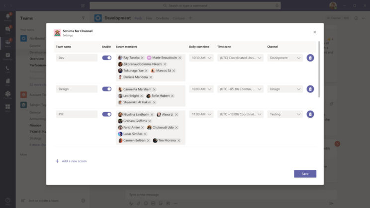 Microsoft Teams Apps: Scrums for Channels